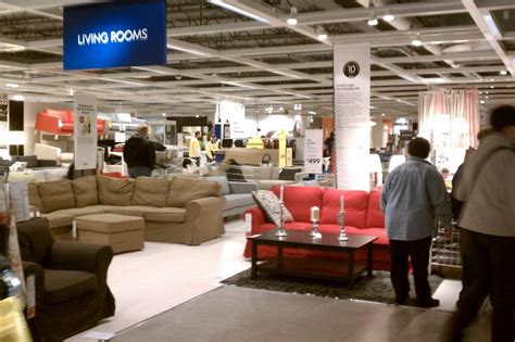 customer inside warehouse part of ikea home store stock ikea west chester north cincinnati shopping food and
