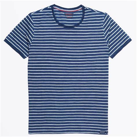blue industry horizontal striped t shirt indigo mr