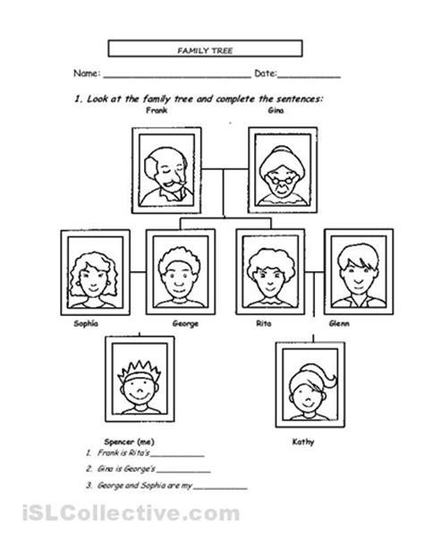 family tree exercise printable spanish family tree worksheet worksheets for all