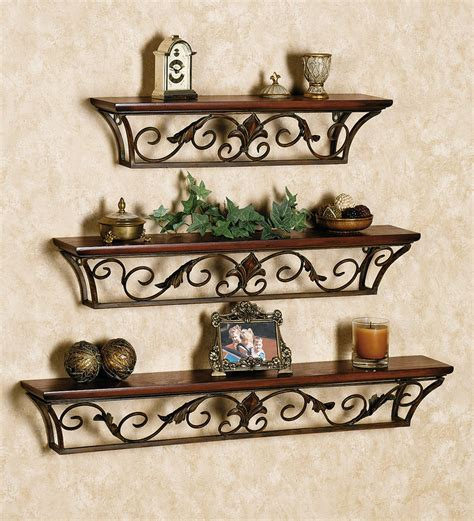 madison decorative wall ledge shelf set of 3 espresso fancy looking shelves set of 3 by metal style online