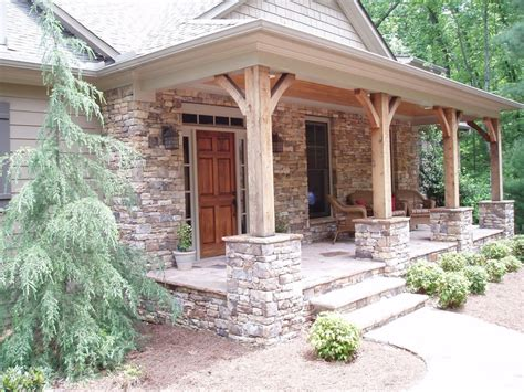 wooden porch posts and columns the rickety brick house stacked stone pillars with wood columns for the front