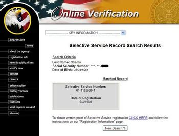 Records By Social Security Number Born In The Usa U S Selective Service In Obama Cover Up