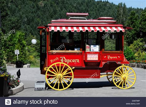 food stand west wagon style styled popcorn convenience fast food stand stock photo royalty