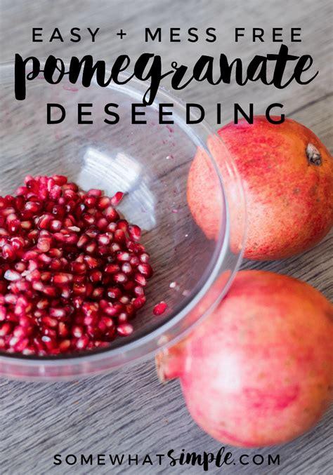 Kitchen Hacks Pomegranate How To Cut A Pomegranate My Favorite Kitchen Hack