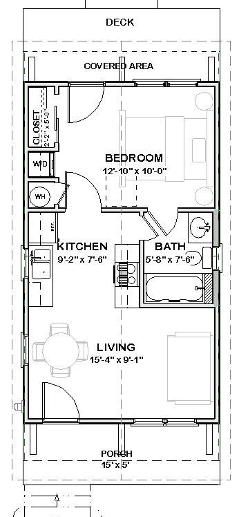 shotgun floor plans total heated living area 448 sq ft total sq ft under beam