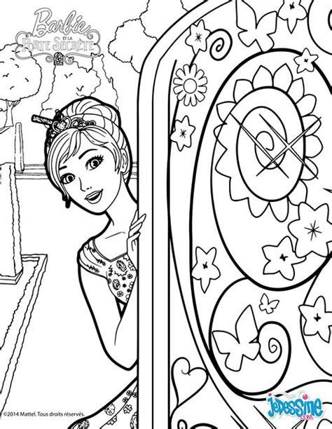 coloriage et la porte secrete ouvre la porte