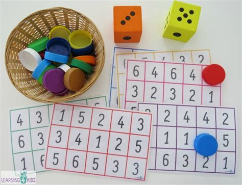 printable kindergarten dice games subitising printable dice game learning 4 kids