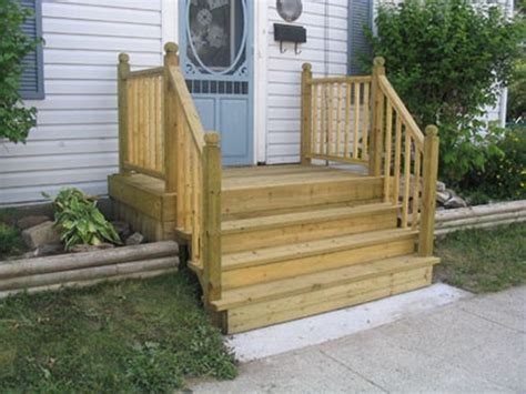 how to build a four step porch for a mobile home hunker