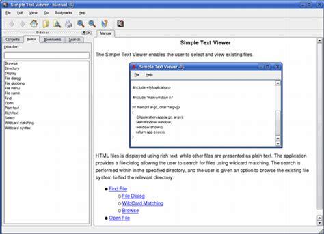 qt tutorial text editor simple text viewer exle qt assistant manual