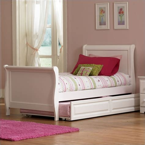 platform sleigh bed atlantic furniture platform sleigh twin bed in white
