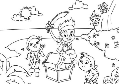 Jake And The Neverland Pirates Coloring Pages Jake Neverland Coloring Pages