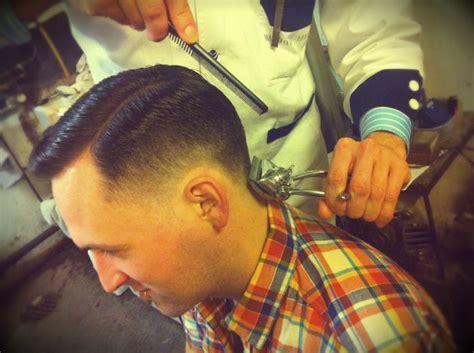 manual clipper haircut in progress haircut with manual clippers in progress