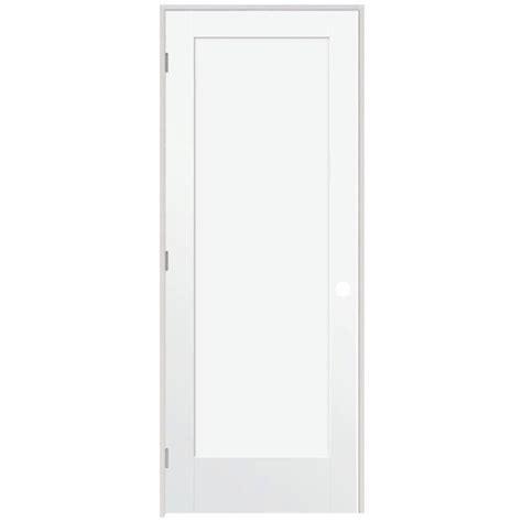 home depot prehung interior door steves sons ultra 1 panel smooth primed white prehung