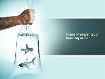 sharks free powerpoint template backgrounds 04291
