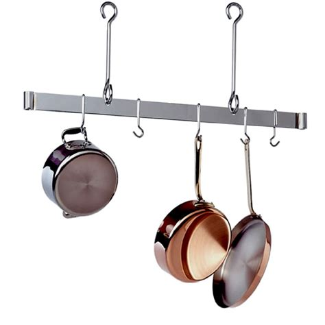 Stainless Steel Pot Hanger Premier 36 Quot Offset Hook Ceiling Bar Pot Rack Stainless