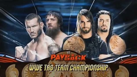 match card template tag team payback 2013 match card daniel bryan randy orton vs