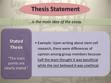 stem cell research thesis statement the reflective essay final 1