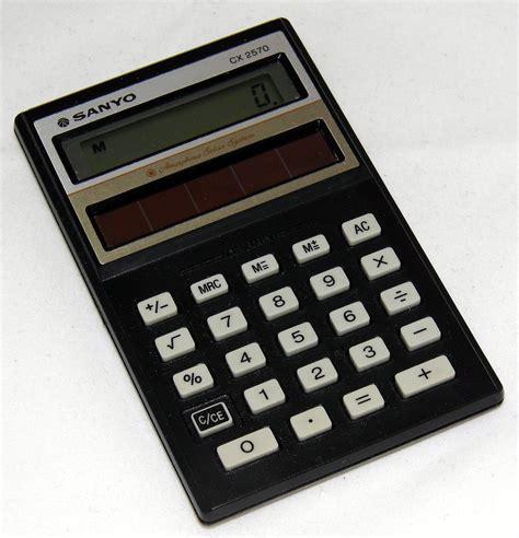 calculator solar panel file vintage sanyo model cx2750 amorphous solar battery