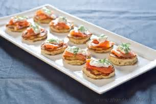 Mini Home Plans blinis with salmon and sour cream gluten free and low