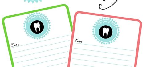 tooth stationery template printable tooth note archives the crafting