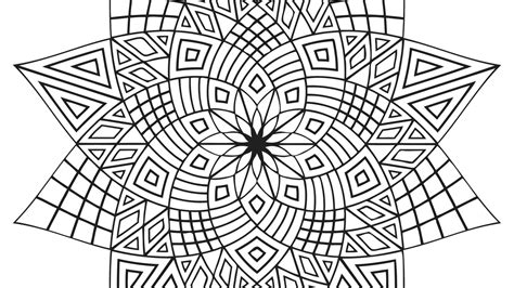 free coloring pages of difficult geometry