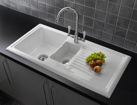 Ceramic Kitchen Sinks 1 5 Bowl Reginox 1 5 Bowl Ceramic Kitchen Sink Rl301cw