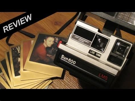 polaroid sun 600 lms instant film camera review youtube