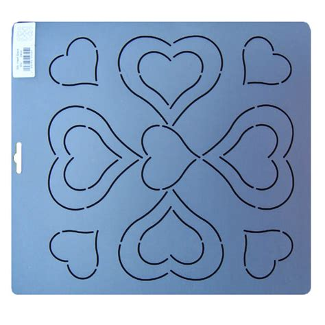 325 heart block quilting stencil 9 5 inch