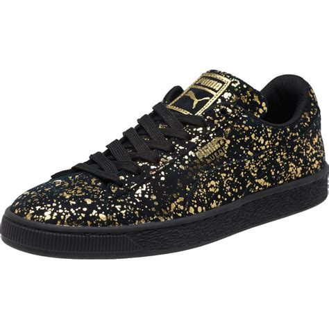 mens metallic sneakers suede splatter metallic s sneakers ebay