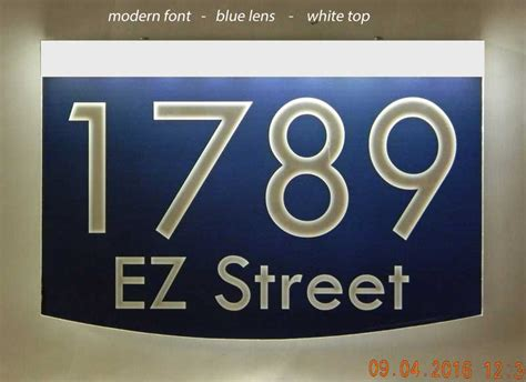 light up address plaque light up wall mount address plaque 8 quot x 12 quot