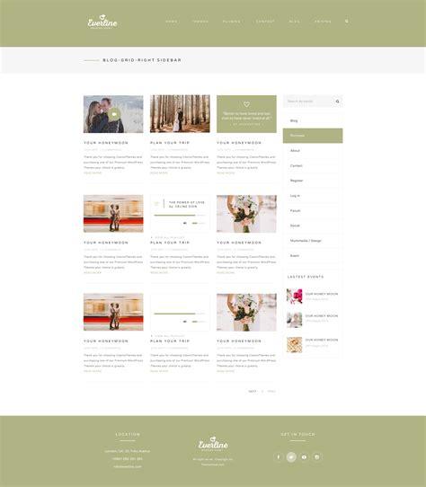 themeforest blog listing wedding event everline wordpress theme by templaza