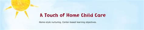a touch of home child care welcome