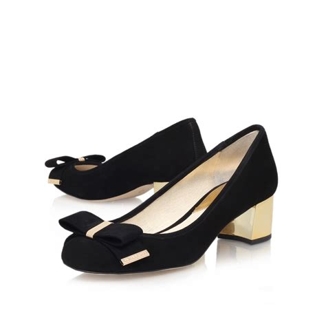 michael kors shoes michael michael kors kiera mid in black lyst