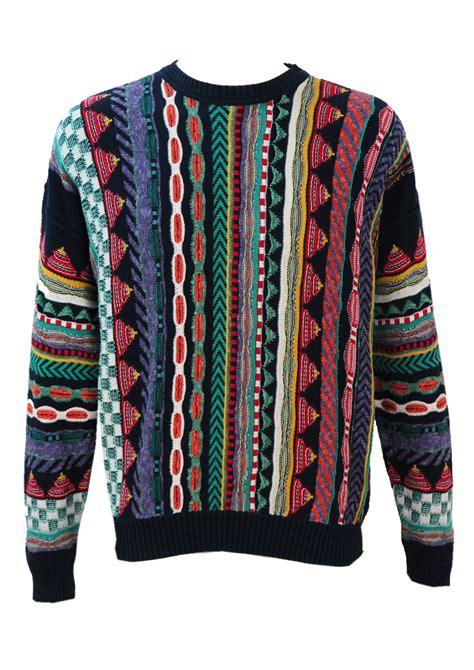 multi coloured l navy multi coloured striped pattern jumper m l reign