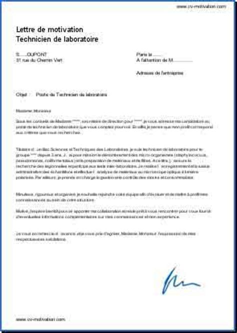 Lettre De Motivation Stage Technicien Laboratoire Modele Lettre De Motivation Technicien De Laboratoire Document