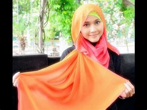 tutorial hijab pashmina didowardah tutorial hijab pashmina by didowardah part 9 youtube