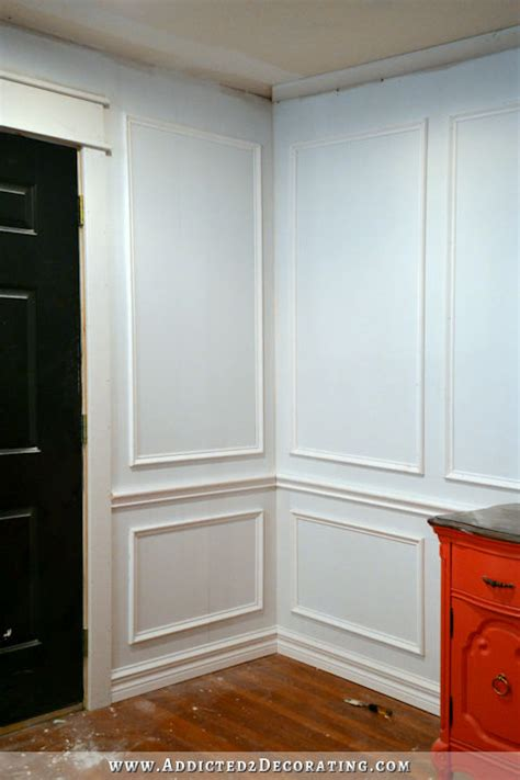 Frame Wainscoting by How To Install Picture Frame Moulding The Easiest