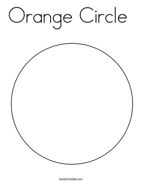 orange circle coloring page twisty noodle