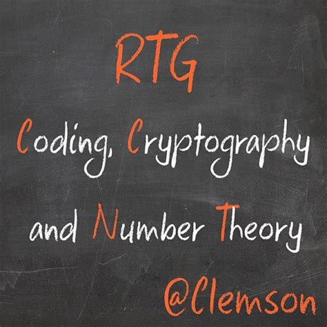 Cryptography And Coding rtg coding cryptography and number theory