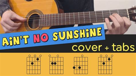 fingerstyle tutorial you are my sunshine ain t no sunshine guitar cover lesson fingerstyle