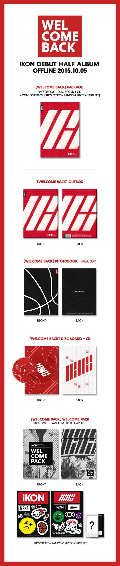 Ikon Welcome Back Debut Half Album ikon debut half album welcome back