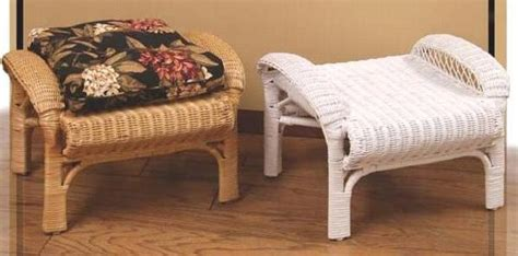 Ottoman Footstool Uk by Wicker Storage Ottoman Rattan Footstool