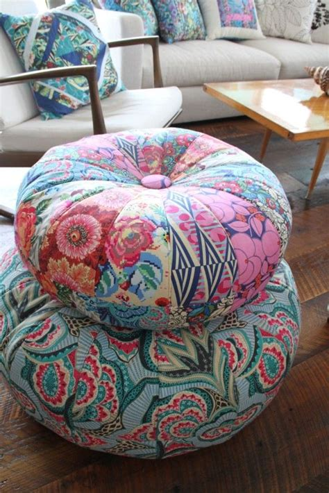 pattern for fabric pouf honey bun poufs pattern by amy bradley for 2 sizes