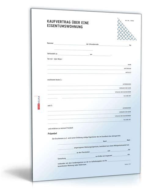 Autoscout Immobilien by Kaufvertrag 252 Ber Eine Eigentumswohnung Muster Zum Download