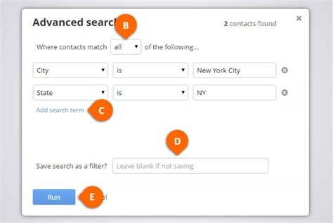 Search Address By Name And City How To Search Contacts By Location Address Zip City State Country Onepagecrm
