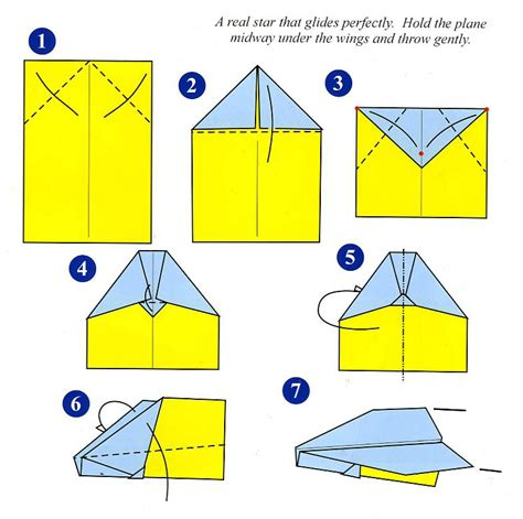 Paper Plane Folding Template - intro projects