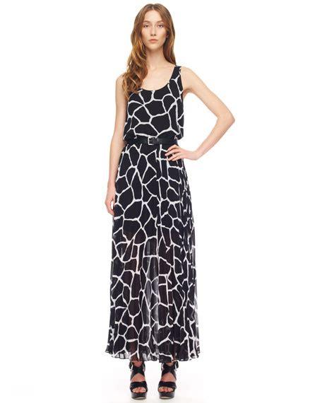 vogue 8645 my giraffe print dress mystitchnbitch michael michael kors giraffe print chiffon maxi dress