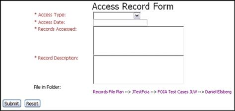Acess Records A User Interface