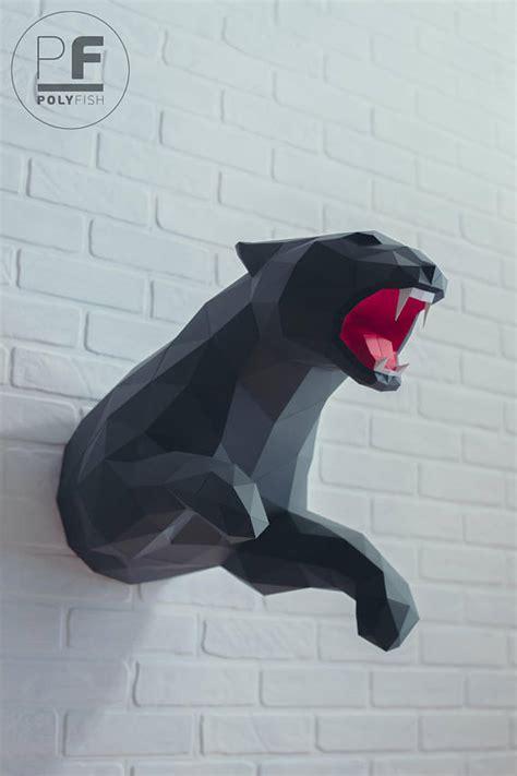 Panther Origami - panther papercraft jaguar leopard paper panther