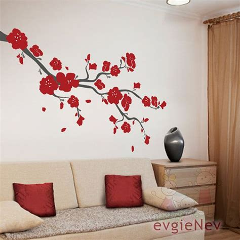 Cherry Blossom Wall Decor by Cherry Blossoms Branch Wall Decal Brcb010r